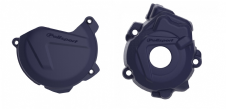 New Husqvarna FC 250 350 14 15 Clutch Ignition Cover Protector Combo Blue
